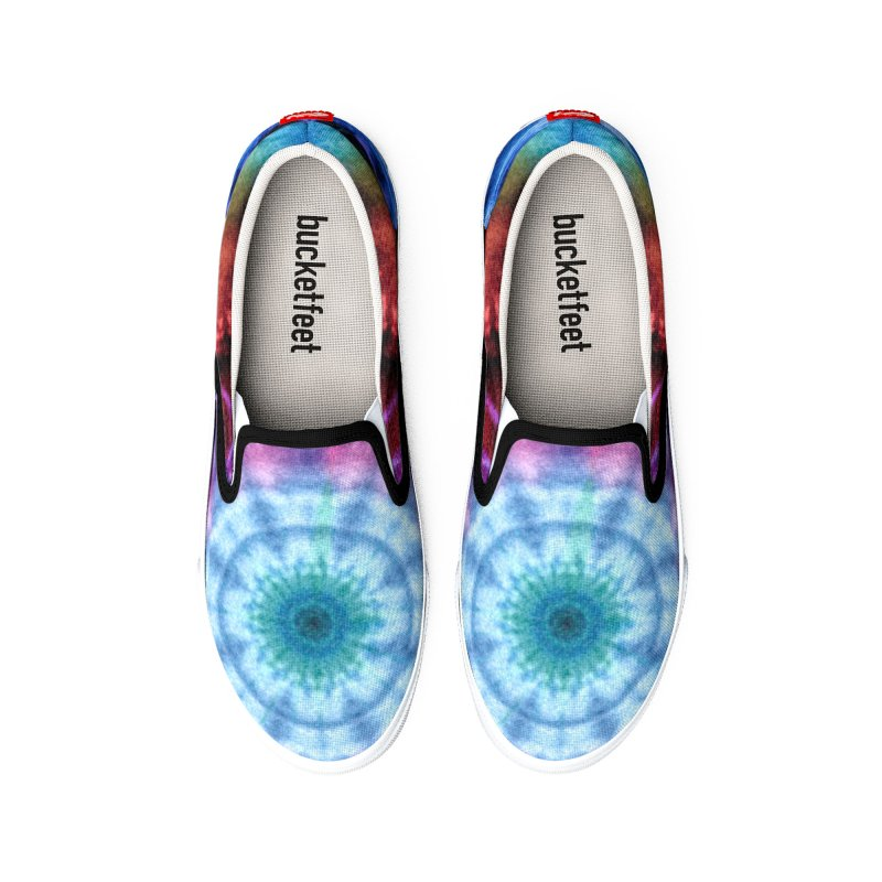 Plasmagoria -  Tie Dye Psychedelic Mandala Women's Shoes by RML Studios: The Art & Design of Ryan Livingston