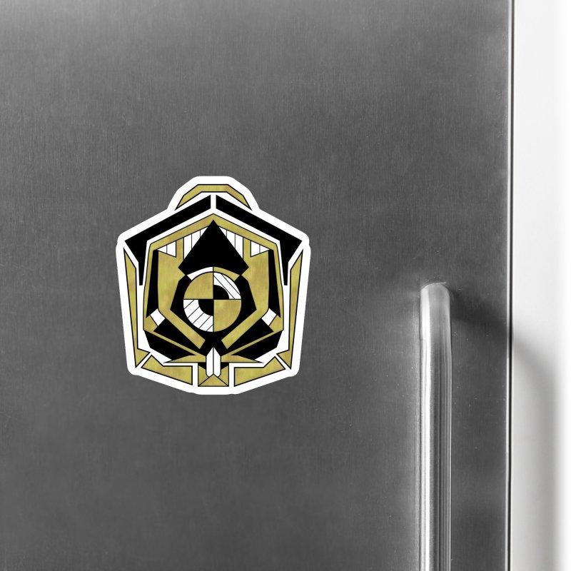 Cybernetic Apple - Faux Metallic Geometric Design Accessories Magnet by RML Studios: The Art & Design of Ryan Livingston