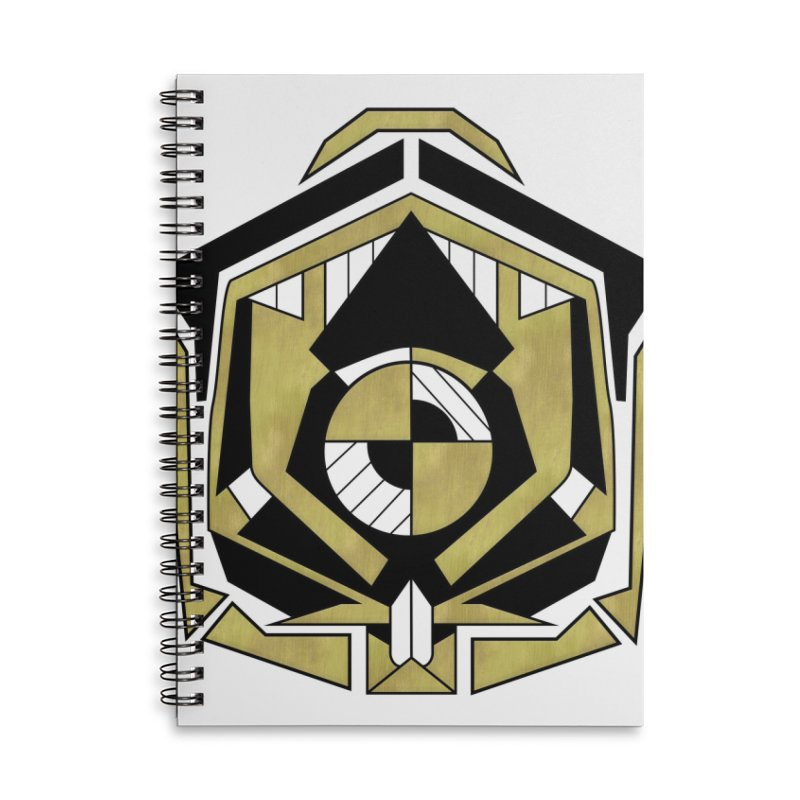 Cybernetic Apple - Faux Metallic Geometric Design Accessories Notebook by RML Studios: The Art & Design of Ryan Livingston