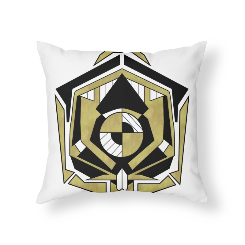 Cybernetic Apple - Faux Metallic Geometric Design Home Throw Pillow by RML Studios: The Art & Design of Ryan Livingston