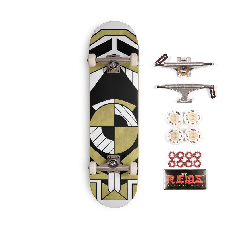 Cybernetic Apple - Faux Metallic Geometric Design Accessories Skateboard by RML Studios: The Art & Design of Ryan Livingston