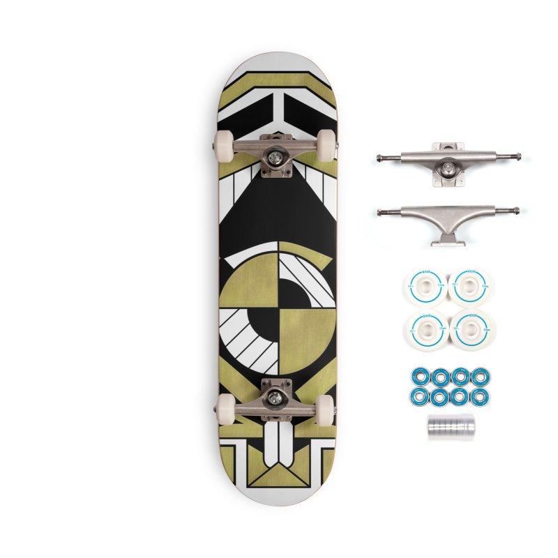 Cybernetic Apple - Faux Metallic Geometric Design Accessories Skateboard by RML Studios: The Art & Design of Ryan Livingston