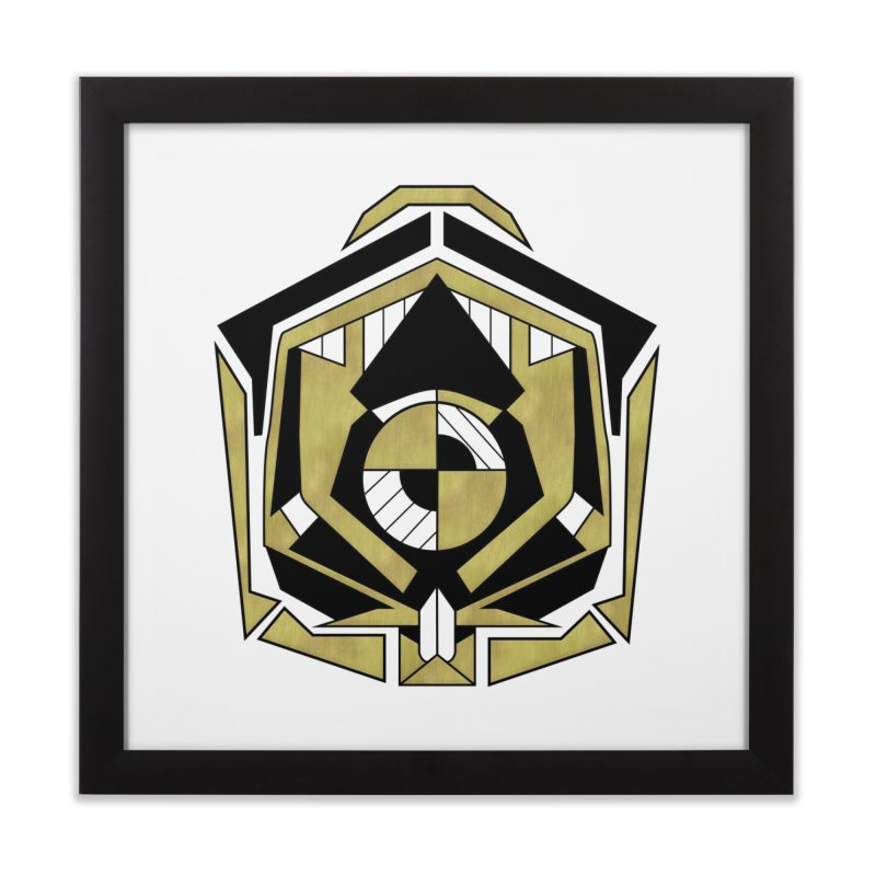 Cybernetic Apple - Faux Metallic Geometric Design Home Framed Fine Art Print by RML Studios: The Art & Design of Ryan Livingston