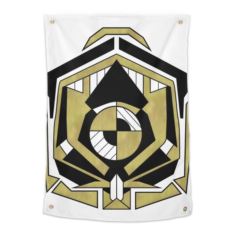 Cybernetic Apple - Faux Metallic Geometric Design Home Tapestry by RML Studios: The Art & Design of Ryan Livingston