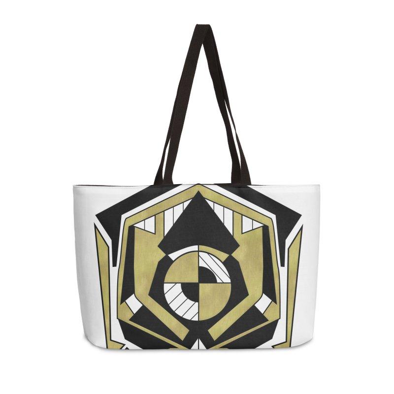 Cybernetic Apple - Faux Metallic Geometric Design Accessories Bag by RML Studios: The Art & Design of Ryan Livingston