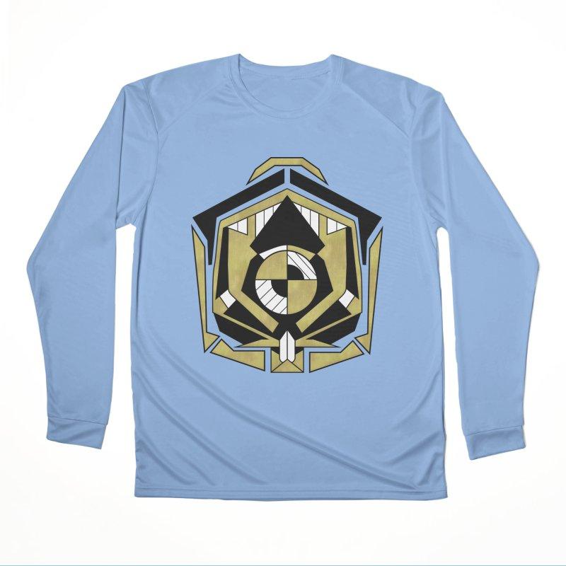 Cybernetic Apple - Faux Metallic Geometric Design Women's Longsleeve T-Shirt by RML Studios: The Art & Design of Ryan Livingston