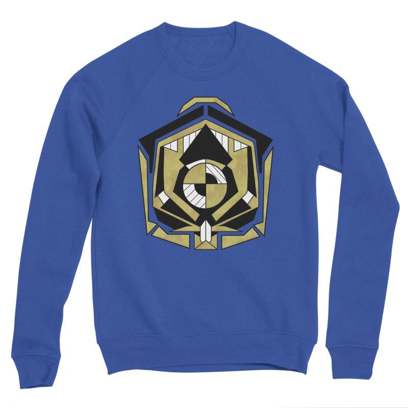 Cybernetic Apple - Faux Metallic Geometric Design Men's Sweatshirt by RML Studios: The Art & Design of Ryan Livingston