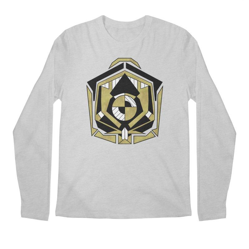 Cybernetic Apple - Faux Metallic Geometric Design Men's Longsleeve T-Shirt by RML Studios: The Art & Design of Ryan Livingston