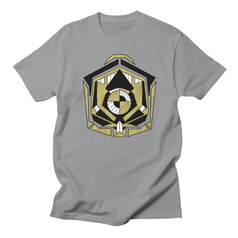 Cybernetic Apple - Faux Metallic Geometric Design Men's T-Shirt by RML Studios: The Art & Design of Ryan Livingston