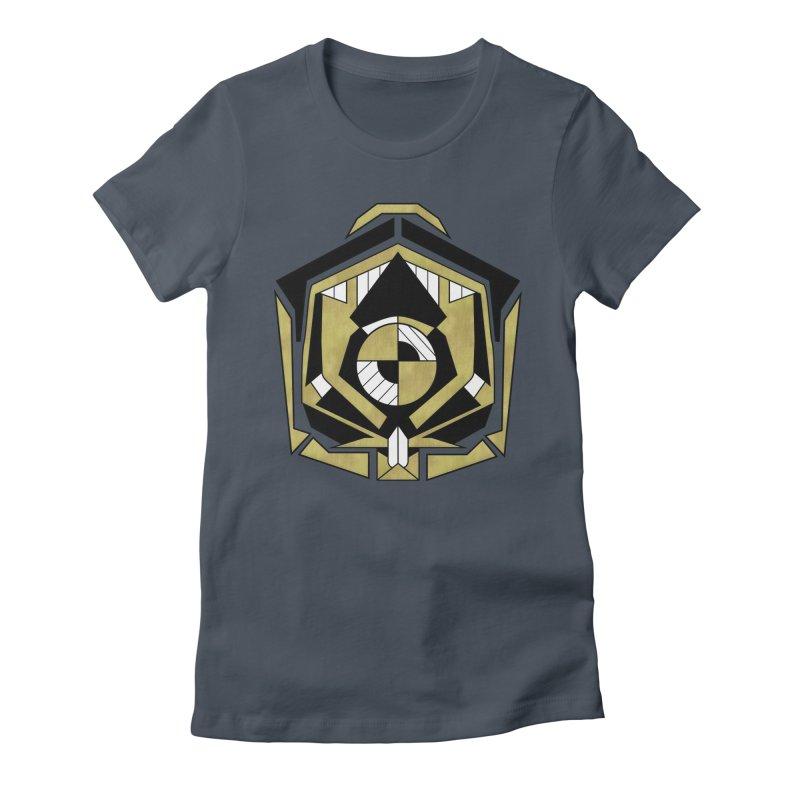 Cybernetic Apple - Faux Metallic Geometric Design Women's T-Shirt by RML Studios: The Art & Design of Ryan Livingston