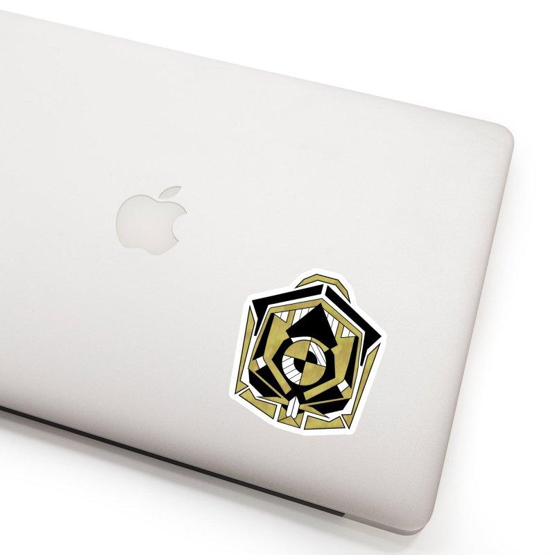 Cybernetic Apple - Faux Metallic Geometric Design Accessories Sticker by RML Studios: The Art & Design of Ryan Livingston