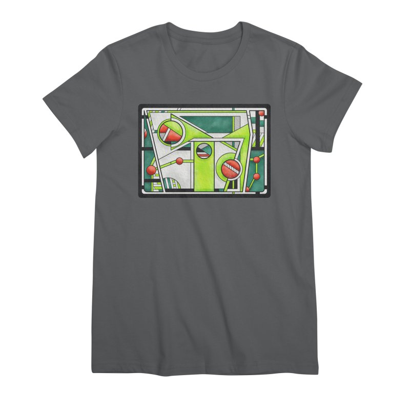 Treefrog - Cubist Amphibian Design Women's T-Shirt by RML Studios: The Art & Design of Ryan Livingston