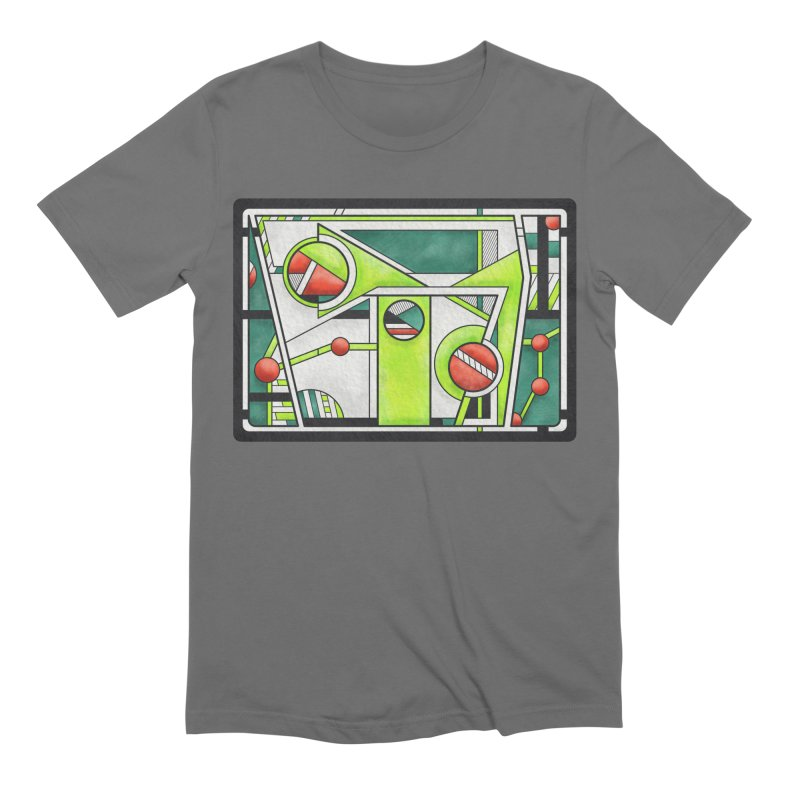 Treefrog - Cubist Amphibian Design Men's T-Shirt by RML Studios: The Art & Design of Ryan Livingston