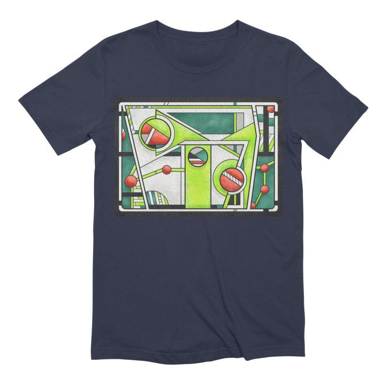 Treefrog - Cubist Amphibian Design Men's T-Shirt by RML Studios: The Art & Design of Ryan Livingston