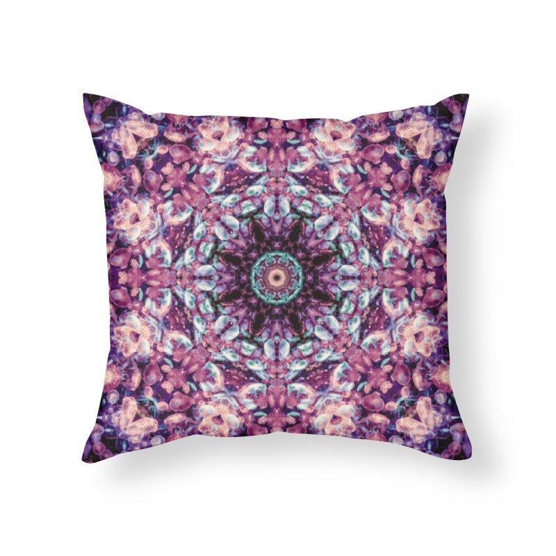 Bioluminescence II - Alien Abstract Mandala Home Throw Pillow by RML Studios: The Art & Design of Ryan Livingston