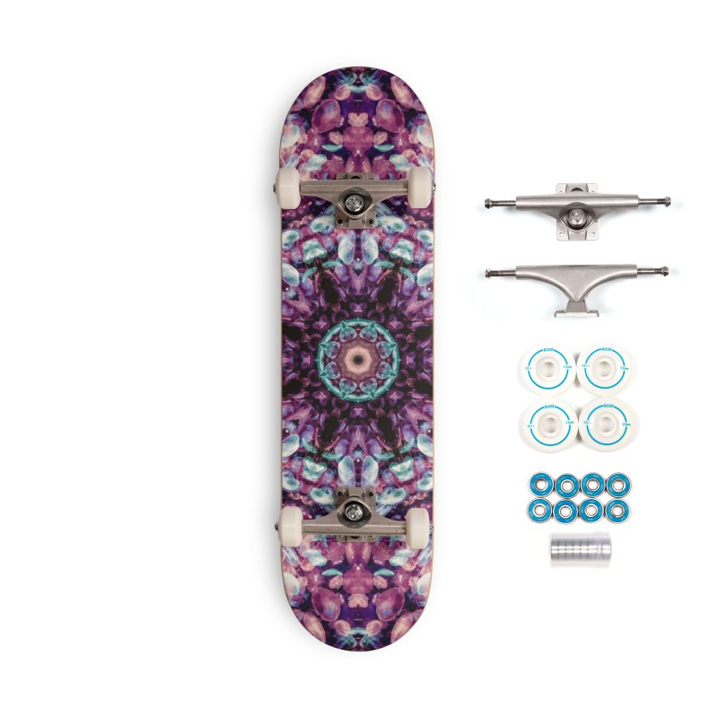 Bioluminescence II - Alien Abstract Mandala Accessories Skateboard by RML Studios: The Art & Design of Ryan Livingston