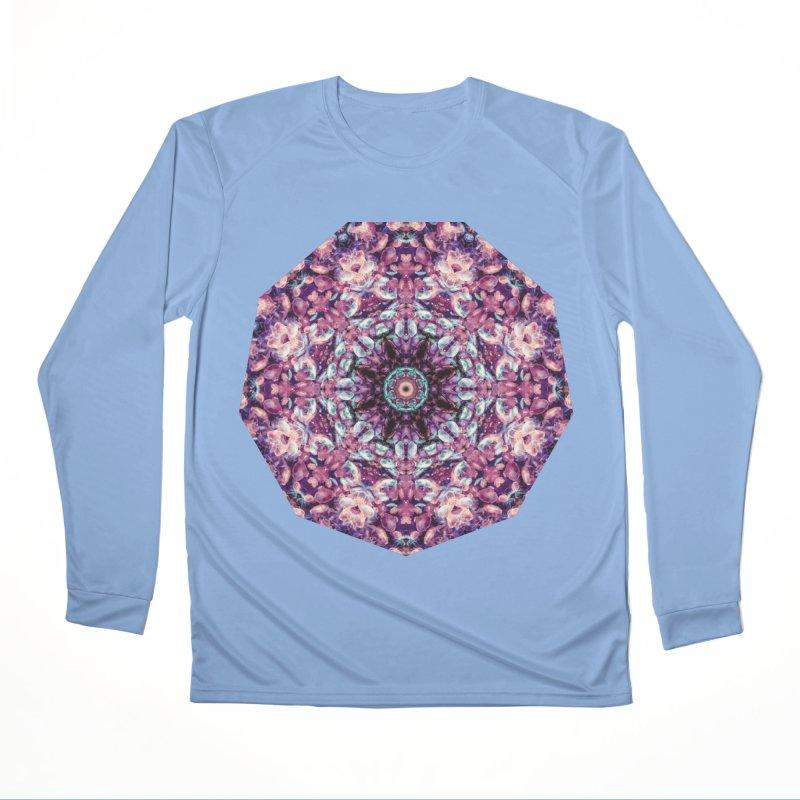 Bioluminescence II - Alien Abstract Mandala Men's Longsleeve T-Shirt by RML Studios: The Art & Design of Ryan Livingston