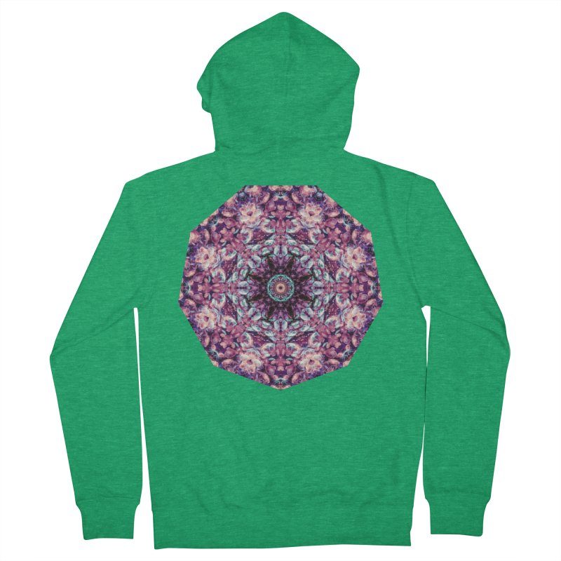 Bioluminescence II - Alien Abstract Mandala Men's Zip-Up Hoody by RML Studios: The Art & Design of Ryan Livingston