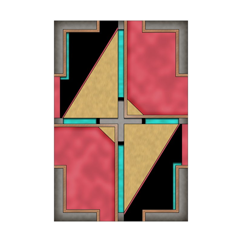Quad - Geometric Art Deco Design Home Mounted Acrylic Print by RML Studios: The Art & Design of Ryan Livingston