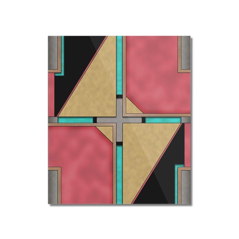 Quad - Geometric Art Deco Design Home Mounted Acrylic Print by RML Studios: The Art & Design of Ryan Livingston