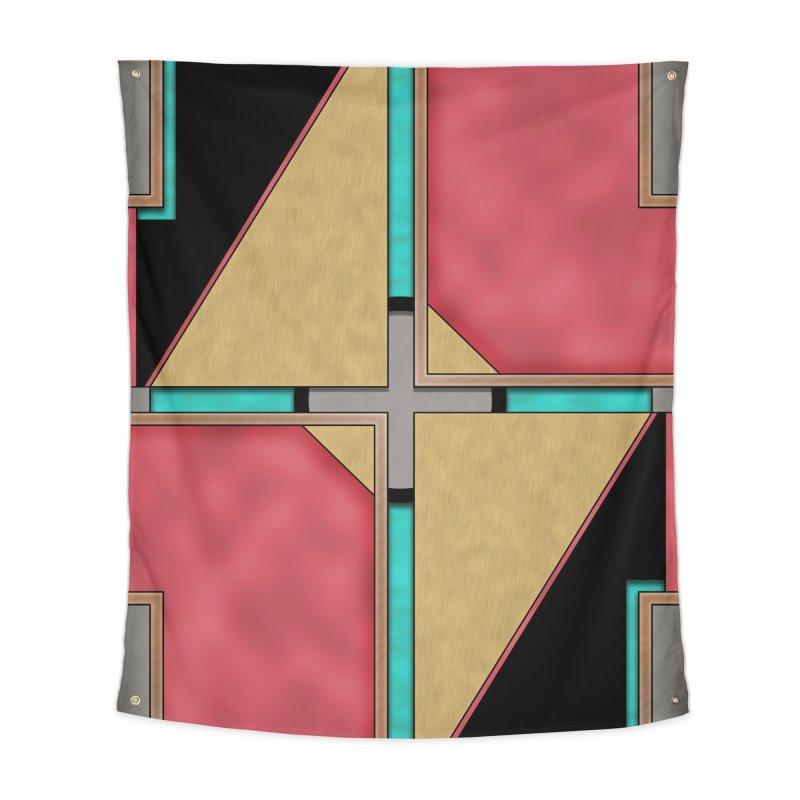 Quad - Geometric Art Deco Design Home Tapestry by RML Studios: The Art & Design of Ryan Livingston