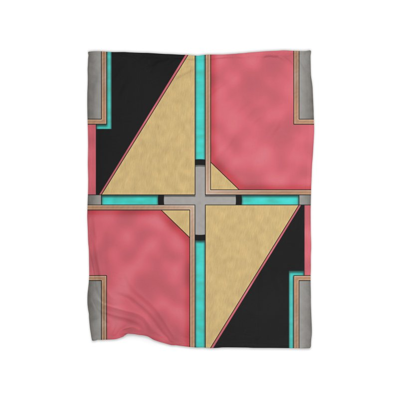 Quad - Geometric Art Deco Design Home Blanket by RML Studios: The Art & Design of Ryan Livingston