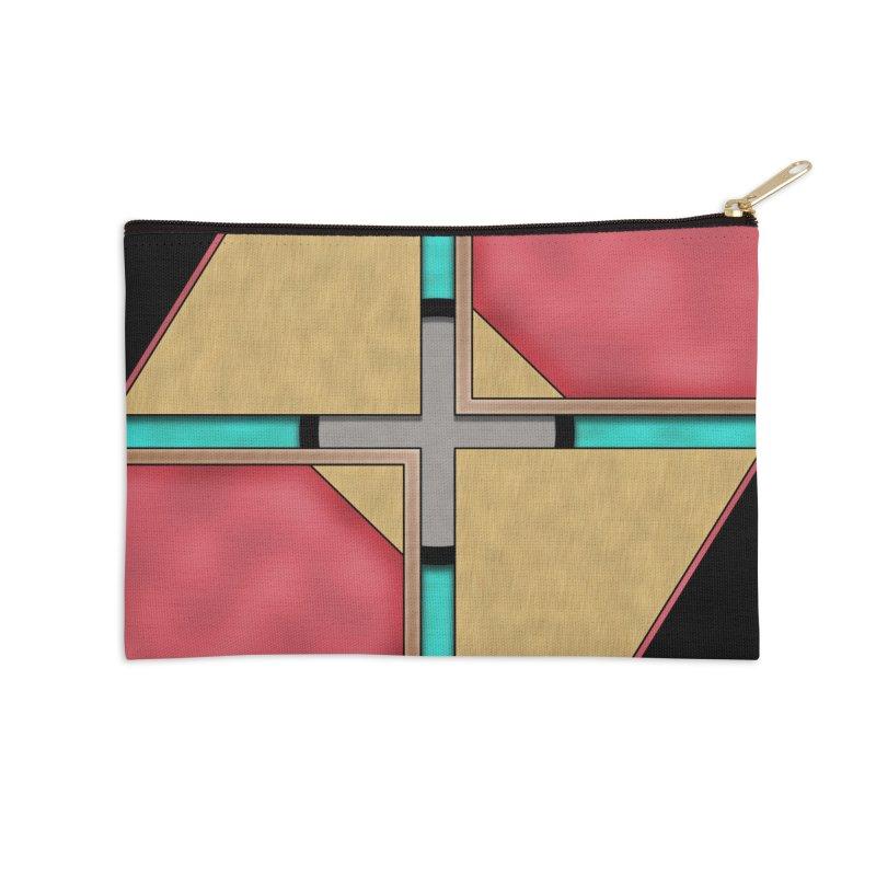 Quad - Geometric Art Deco Design Accessories Zip Pouch by RML Studios: The Art & Design of Ryan Livingston