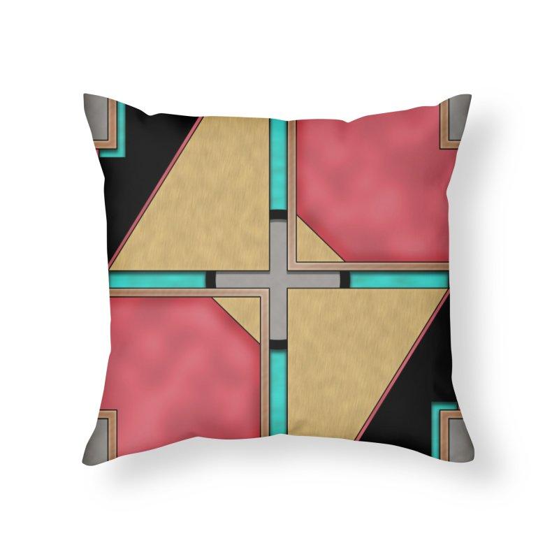 Quad - Geometric Art Deco Design Home Throw Pillow by RML Studios: The Art & Design of Ryan Livingston