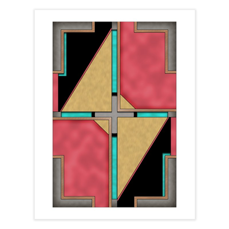 Quad - Geometric Art Deco Design Home Fine Art Print by RML Studios: The Art & Design of Ryan Livingston