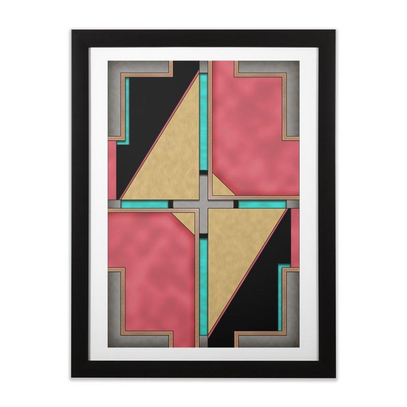 Quad - Geometric Art Deco Design Home Framed Fine Art Print by RML Studios: The Art & Design of Ryan Livingston