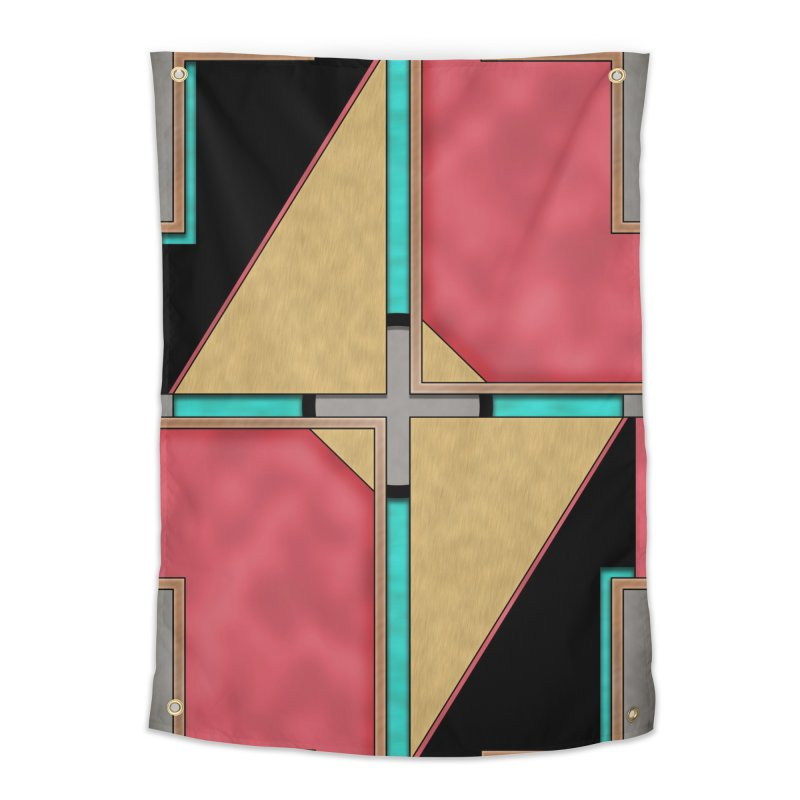 Quad - Geometric Art Deco Design Home Tapestry by RML Studios: The Art & Design of Ryan Livingston
