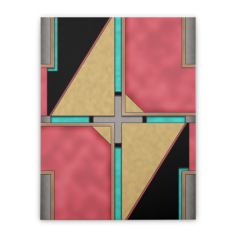 Quad - Geometric Art Deco Design Home Stretched Canvas by RML Studios: The Art & Design of Ryan Livingston