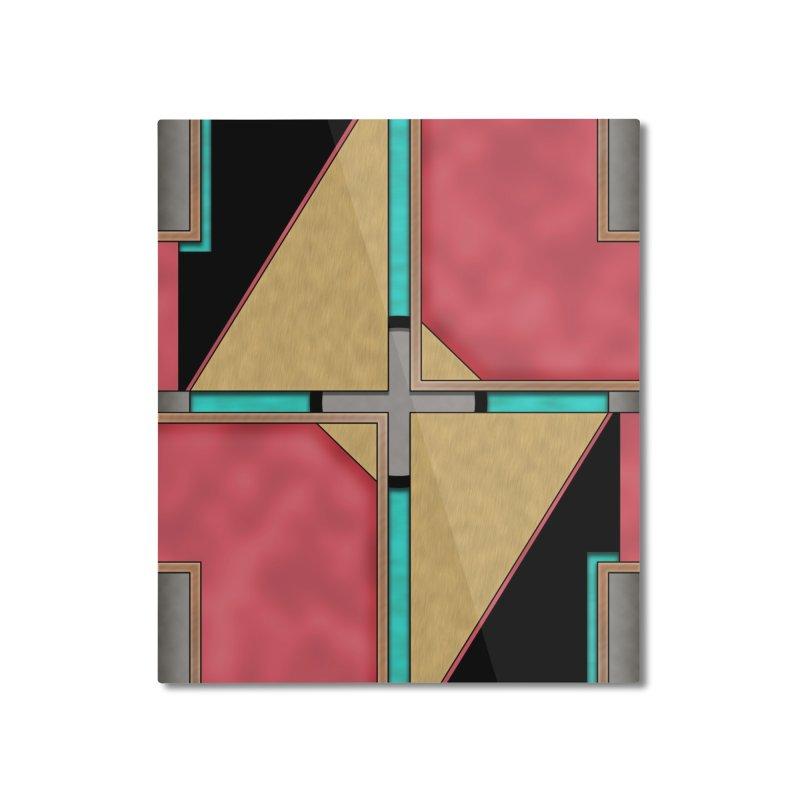 Quad - Geometric Art Deco Design Home Mounted Aluminum Print by RML Studios: The Art & Design of Ryan Livingston