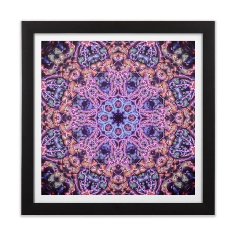 Bioluminescence - Neon Mandala Home Framed Fine Art Print by RML Studios: The Art & Design of Ryan Livingston
