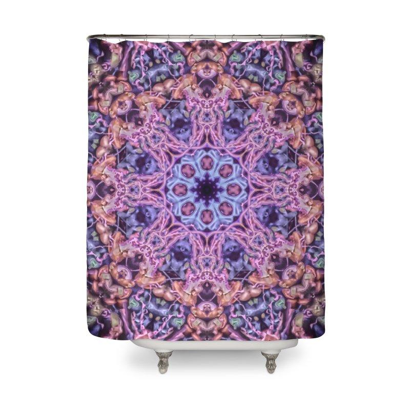 Bioluminescence - Neon Mandala Home Shower Curtain by RML Studios: The Art & Design of Ryan Livingston