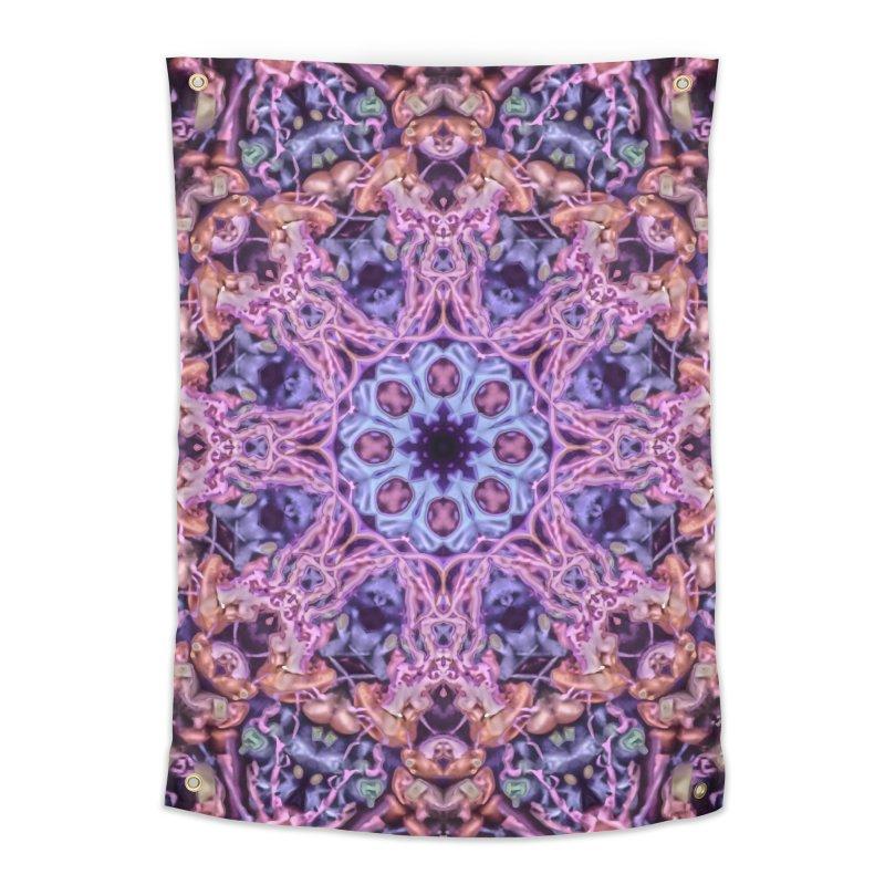 Bioluminescence - Neon Mandala Home Tapestry by RML Studios: The Art & Design of Ryan Livingston