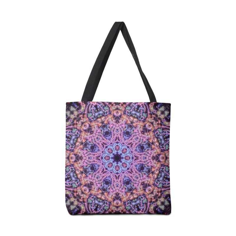 Bioluminescence - Neon Mandala Accessories Bag by RML Studios: The Art & Design of Ryan Livingston