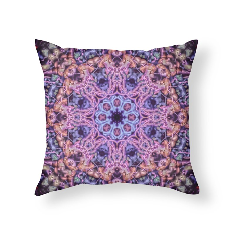 Bioluminescence - Neon Mandala Home Throw Pillow by RML Studios: The Art & Design of Ryan Livingston