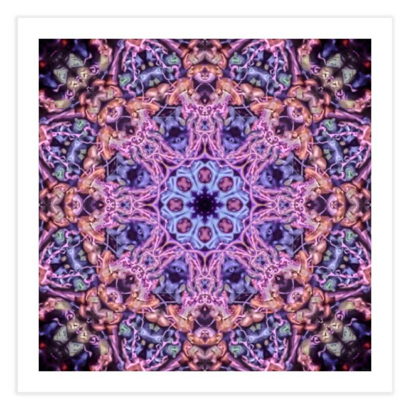 Bioluminescence - Neon Mandala Home Fine Art Print by RML Studios: The Art & Design of Ryan Livingston