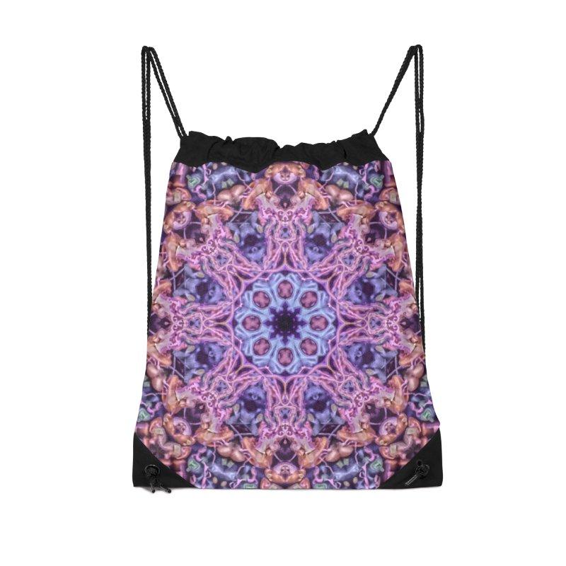 Bioluminescence - Neon Mandala Accessories Bag by RML Studios: The Art & Design of Ryan Livingston