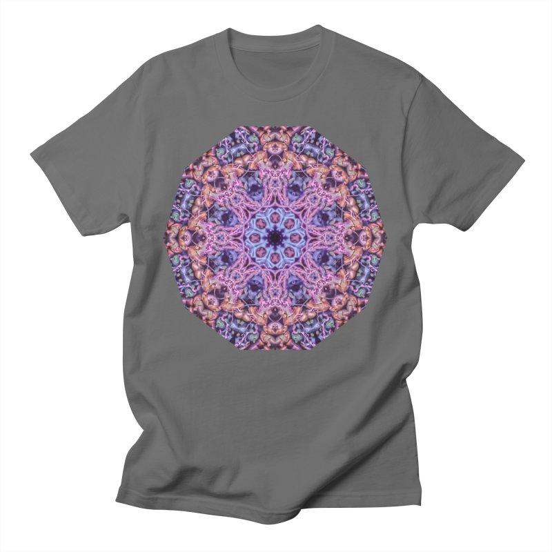 Bioluminescence - Neon Mandala Men's T-Shirt by RML Studios: The Art & Design of Ryan Livingston