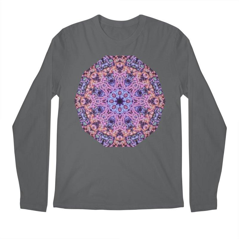 Bioluminescence - Neon Mandala Men's Longsleeve T-Shirt by RML Studios: The Art & Design of Ryan Livingston