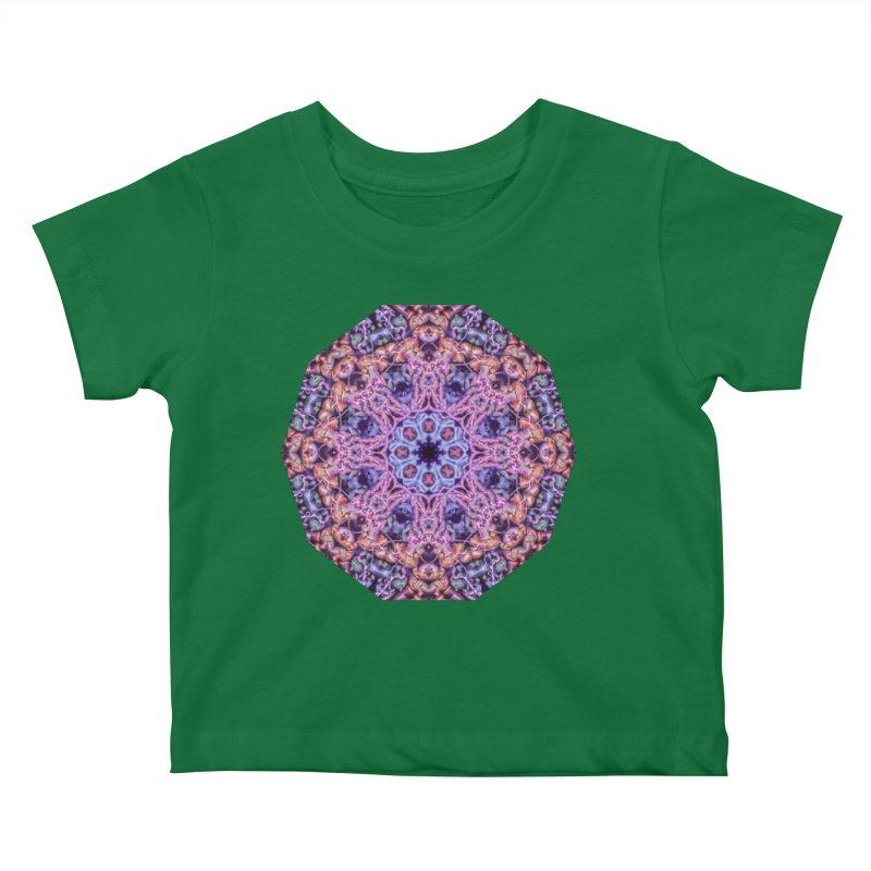 Bioluminescence - Neon Mandala Kids Baby T-Shirt by RML Studios: The Art & Design of Ryan Livingston