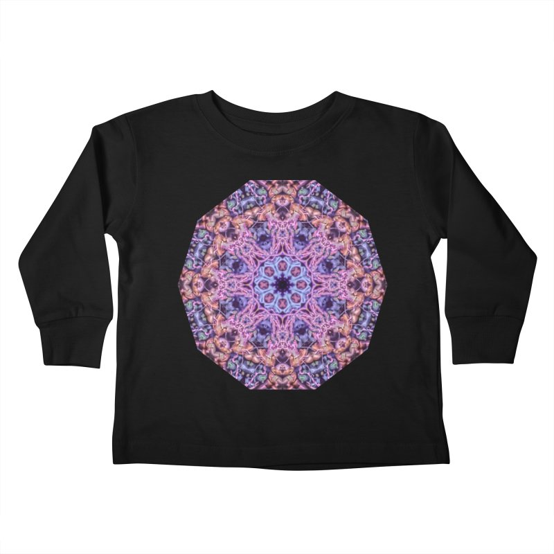 Bioluminescence - Neon Mandala Kids Toddler Longsleeve T-Shirt by RML Studios: The Art & Design of Ryan Livingston