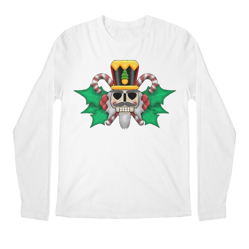 Nutcracker Skull Men's Longsleeve T-Shirt by RML Studios: The Art & Design of Ryan Livingston