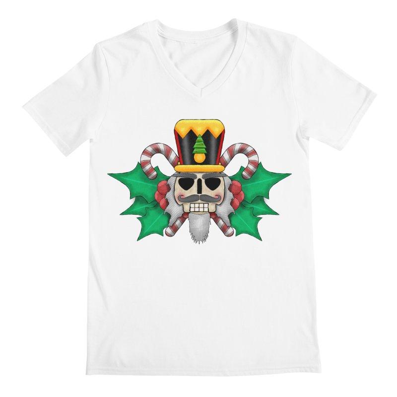 Nutcracker Skull Men's V-Neck by RML Studios: The Art & Design of Ryan Livingston