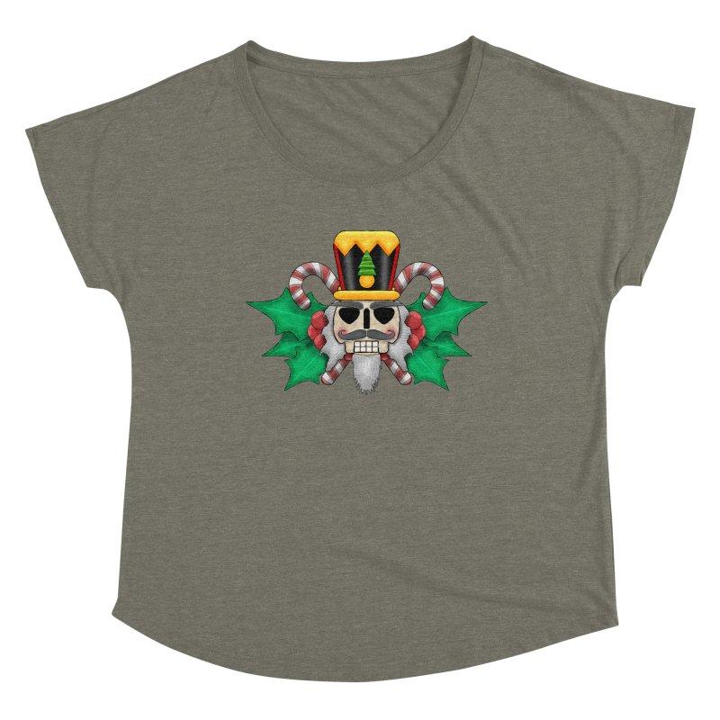 Nutcracker Skull Women's Scoop Neck by RML Studios: The Art & Design of Ryan Livingston