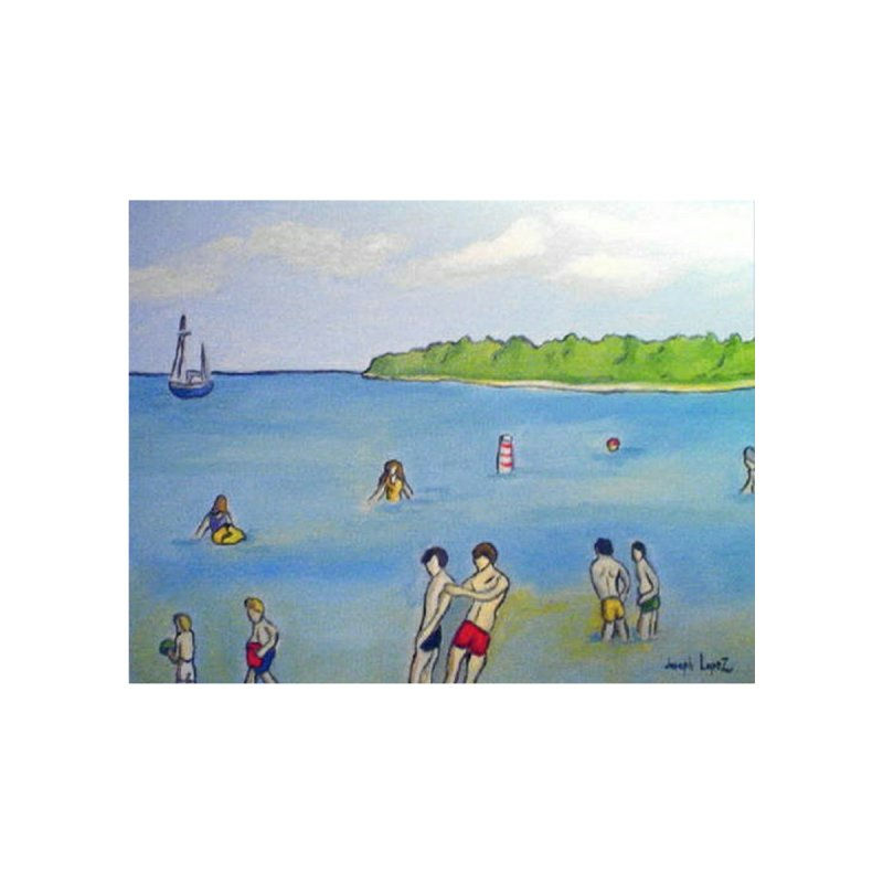 Fish Creek Beach Home Fine Art Print by RNF's Artist Shop