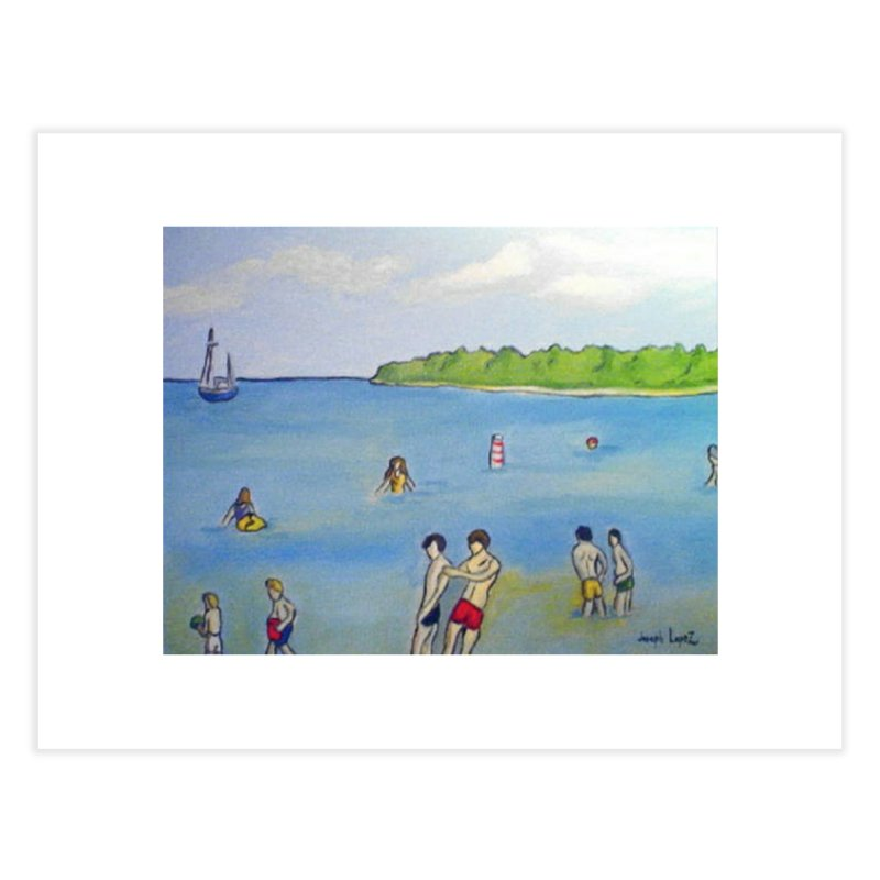 Fish Creek Beach Home Fine Art Print by RNF's Artist Shop