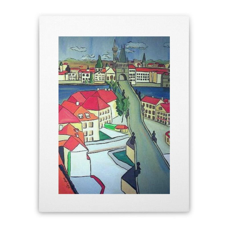 Charles Bridge Prague Home Stretched Canvas by RNF's Artist Shop